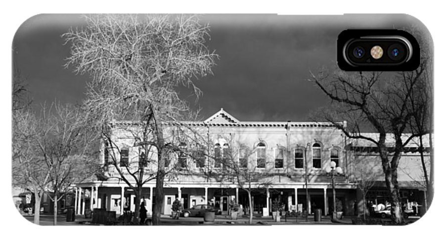 Santa Fe IPhone X Case featuring the photograph Santa Fe Town Square by Rob Hans