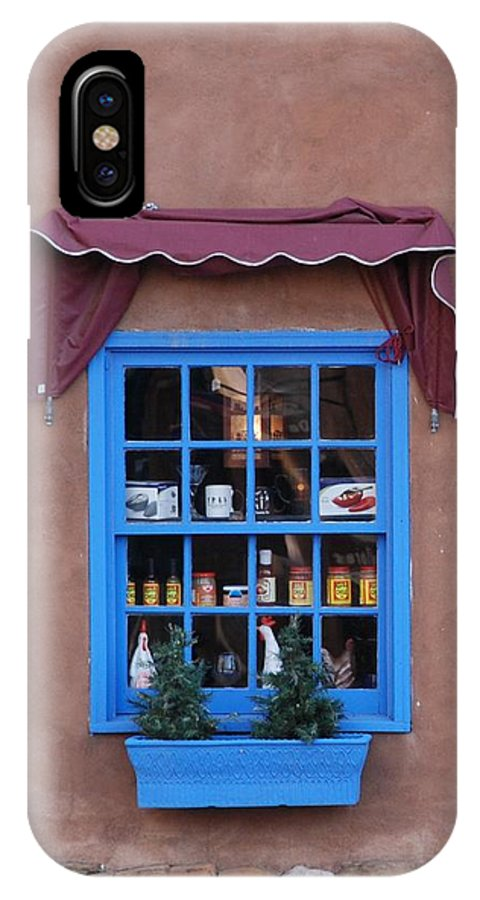 Architecture IPhone X Case featuring the photograph Santa Fe Window by Rob Hans
