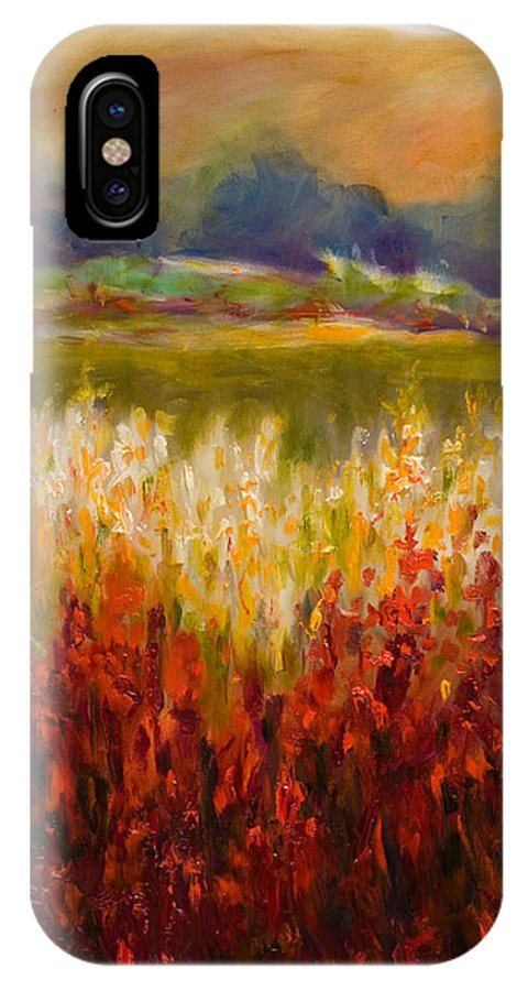 Landscape IPhone X Case featuring the painting Santa Rosa Valley by Shannon Grissom