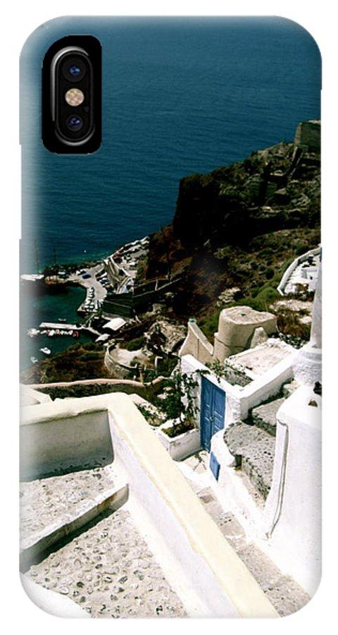 Santorini IPhone X / XS Case featuring the photograph Santorini by Ariane Moshayedi