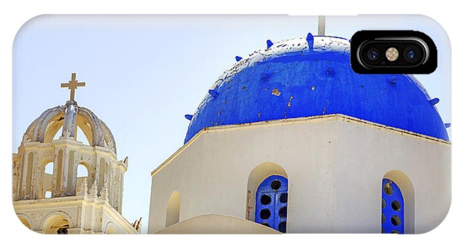 Church IPhone X Case featuring the photograph Santorini by Joana Kruse