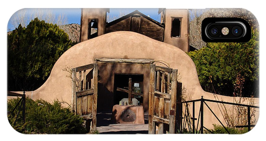 Church IPhone X Case featuring the photograph Santuario De Chimayo Adobe Chapel by Carol Milisen
