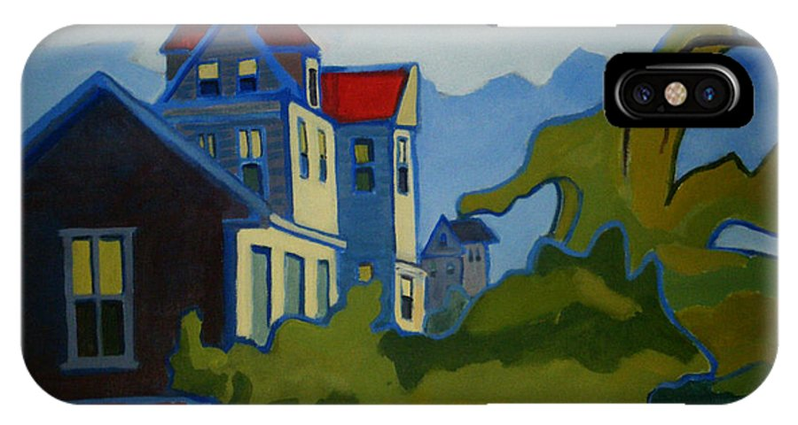 Buildings IPhone X Case featuring the painting Sarah Paul by Debra Bretton Robinson