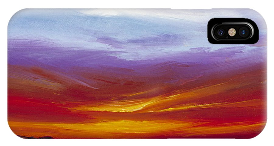Skyscape IPhone X Case featuring the painting Sarasota Bay I by James Christopher Hill