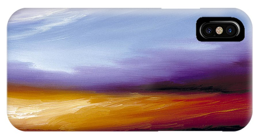 Skyscape IPhone X Case featuring the painting Sarasota Bay II by James Christopher Hill