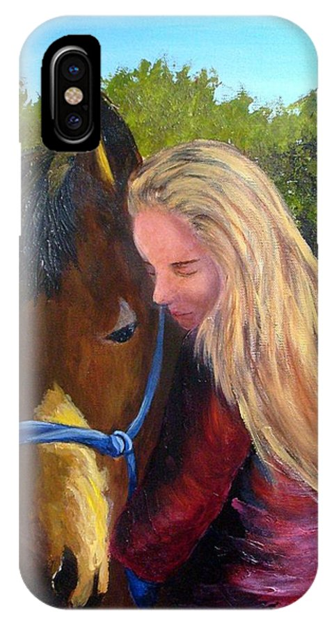 IPhone Case featuring the painting Sasha And Chelsea by Tami Booher