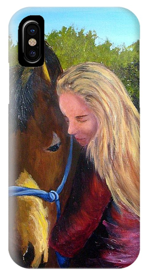 IPhone X / XS Case featuring the painting Sasha And Chelsea by Tami Booher