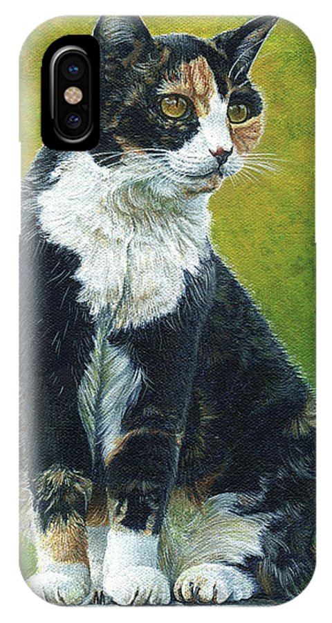 Sassy IPhone X Case featuring the painting Sassy by Cara Bevan