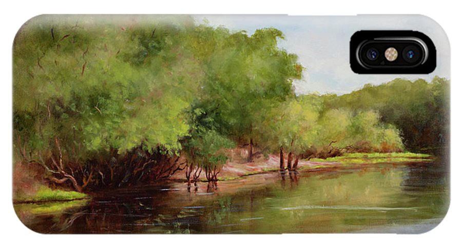 Rivers IPhone X Case featuring the painting Satilla River by Glenda Cason