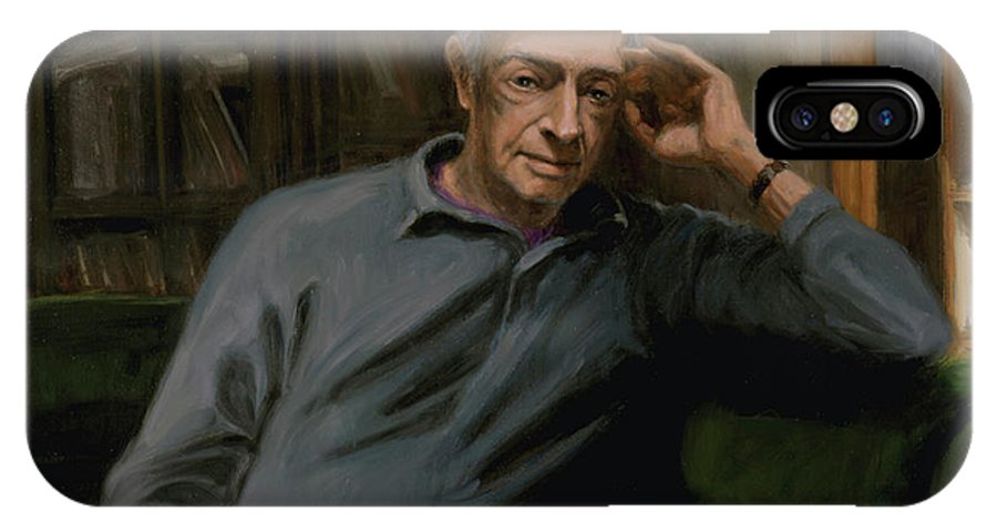 Saul Bellow IPhone X Case featuring the painting Saul Bellow by Sarah Yuster