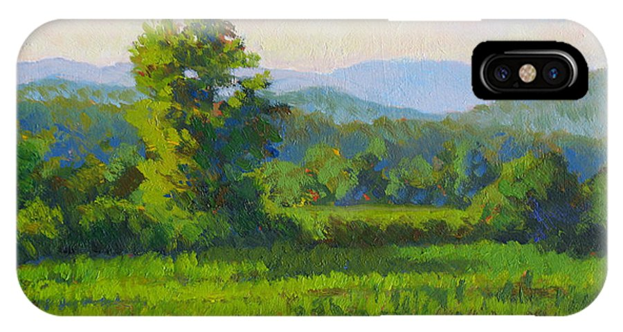 Impressionism IPhone X Case featuring the painting Sautee Vista by Keith Burgess