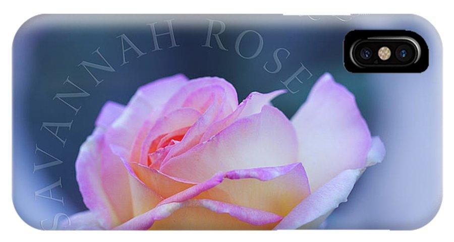 Savannah Rose IPhone X / XS Case featuring the digital art Savannah Rose 3 by Terry Davis