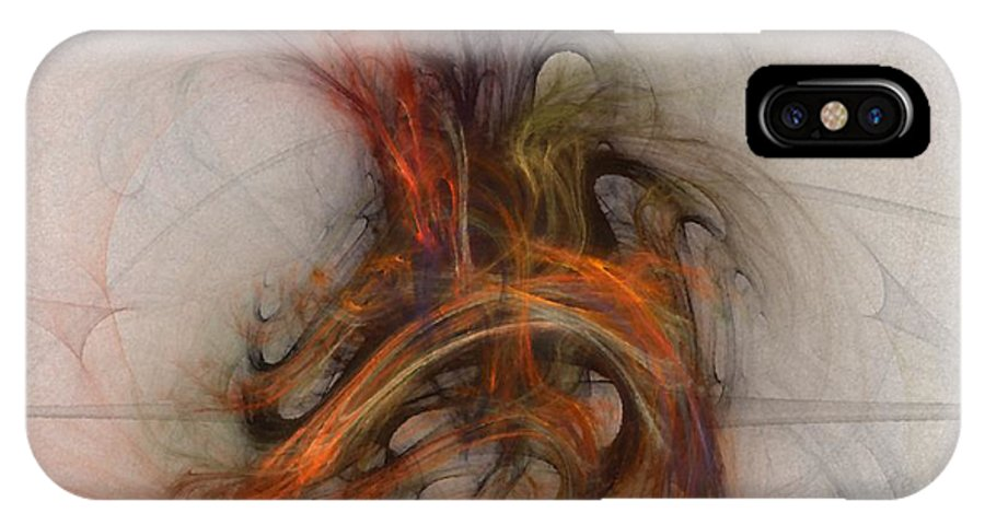 Saving IPhone X Case featuring the digital art Saving Omega - Fractal Art by Nirvana Blues