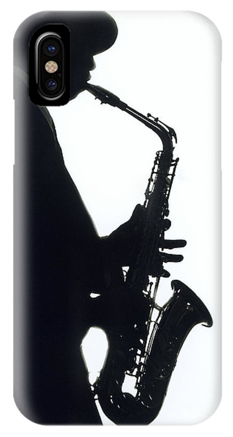 Sax IPhone Case featuring the photograph Sax 2 by Tony Cordoza