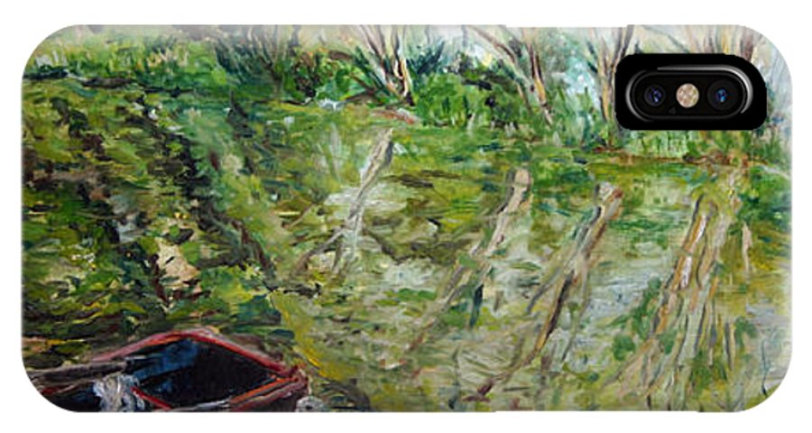 Landscape IPhone X Case featuring the painting Sazava by Pablo de Choros