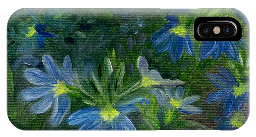 Annuals IPhone X Case featuring the painting Scaevola by FT McKinstry
