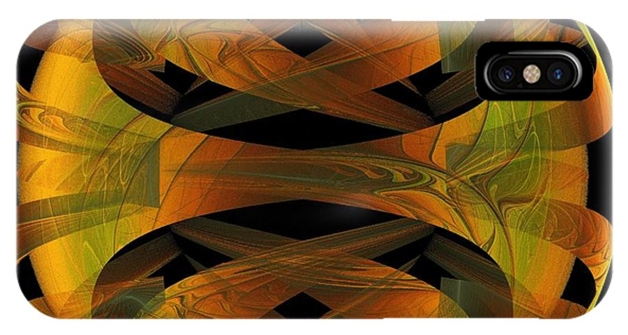 Digital Art IPhone X Case featuring the digital art Scarab by Amanda Moore