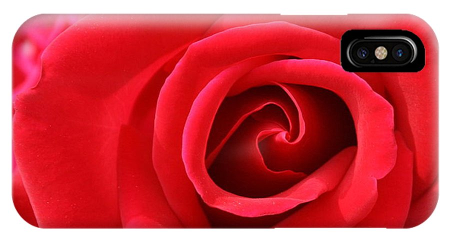 Rose IPhone X Case featuring the photograph Scarlet Vortex by David Dunham