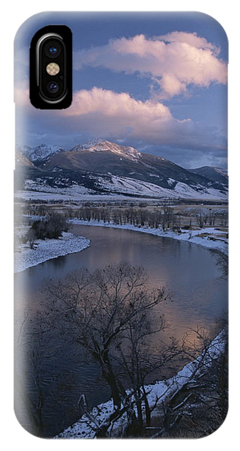 North America IPhone X / XS Case featuring the photograph Scenic Twilight View Of The Yellowstone by Tom Murphy