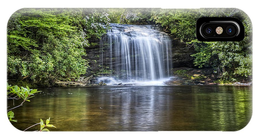 Appalachia IPhone X Case featuring the photograph Schoolhouse Falls by Debra and Dave Vanderlaan