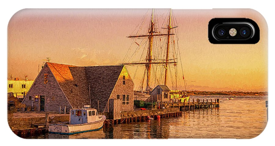 Cape Cod IPhone X Case featuring the photograph Schooner by Michael Petrizzo