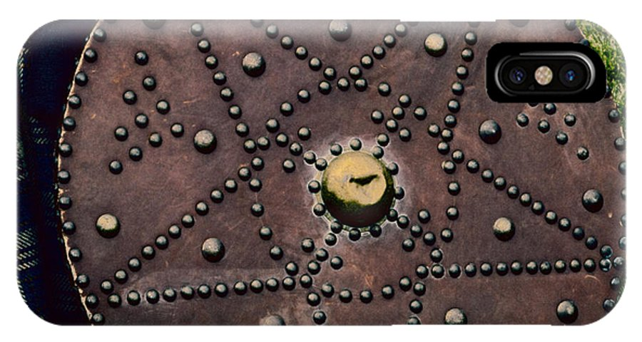 Ancient IPhone X Case featuring the photograph Scottish Targe by Diane Macdonald