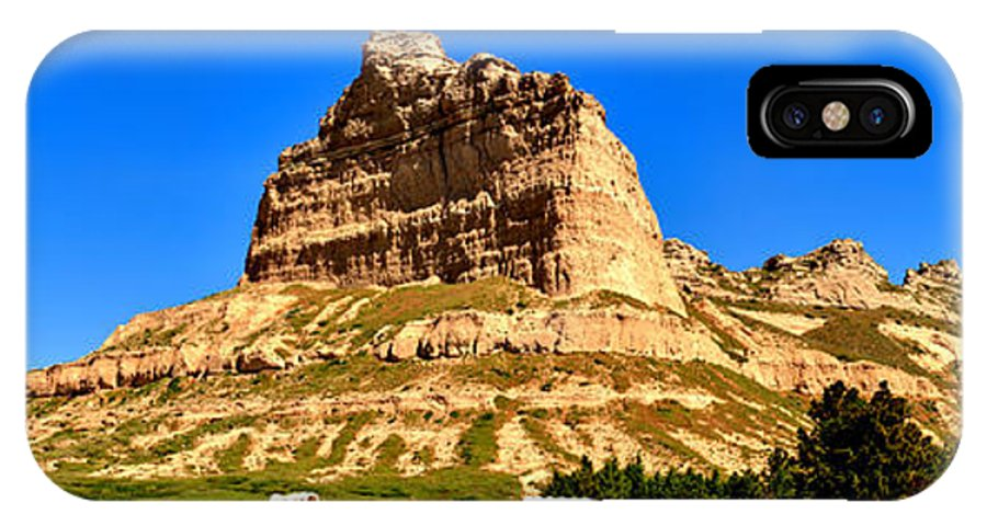 Scotts Bluff IPhone X Case featuring the photograph Scotts Bluff National Monument Panorama by Adam Jewell