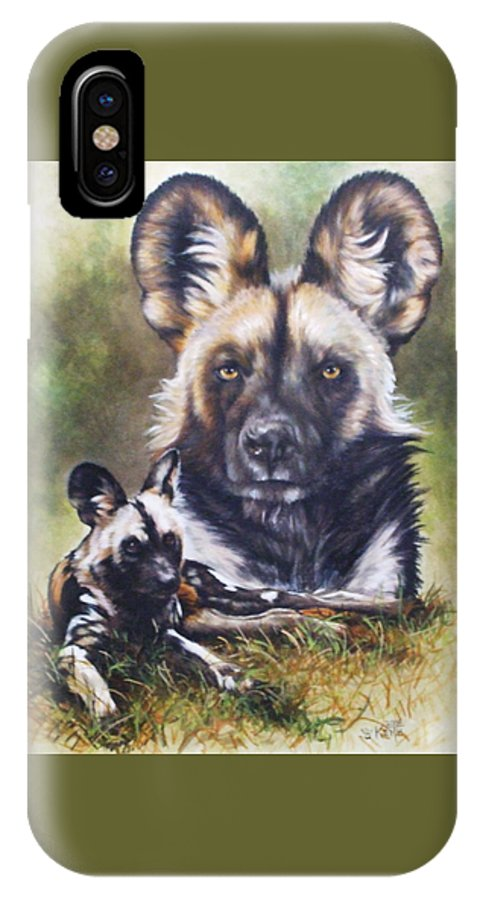 Wild Dogs IPhone X Case featuring the mixed media Scoundrel by Barbara Keith