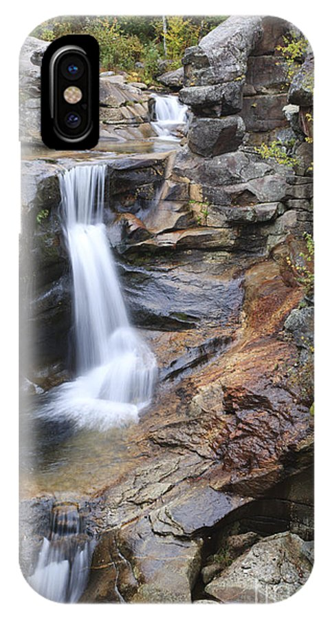 Nature IPhone X Case featuring the photograph Screw Auger Falls - Maine by Erin Paul Donovan