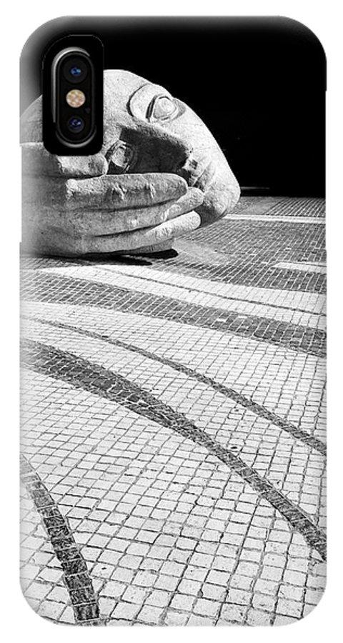 Paris IPhone X Case featuring the photograph Sculpture At St Eustache Paris by Pierre Leclerc Photography