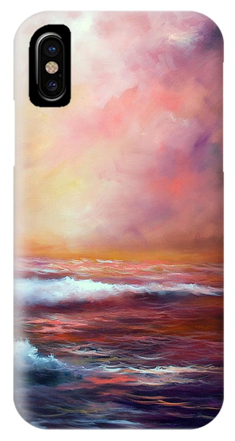 Ocean IPhone X Case featuring the painting Sea Dusk by Sally Seago