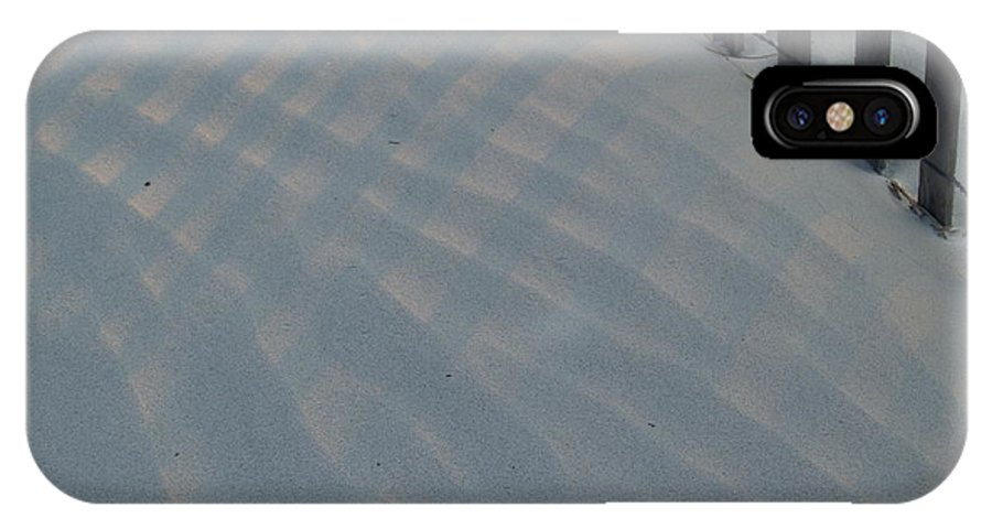 Sand Dune IPhone X Case featuring the photograph Sea Fence At Hunting Island by Anna Lisa Yoder