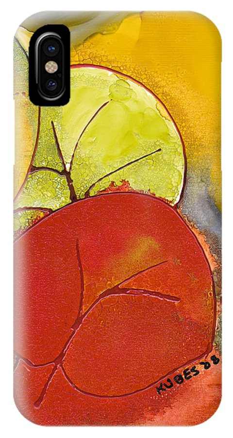 Leaf IPhone Case featuring the painting Sea Grapes by Susan Kubes