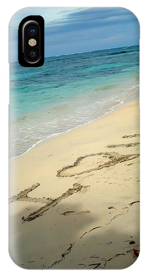 Zapatilla Islands IPhone X Case featuring the photograph Sea I Love You by Dolly Sanchez
