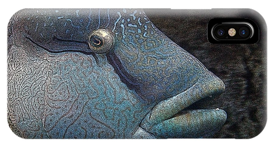 Fish IPhone X Case featuring the mixed media Sea Life 19 by Ernie Echols