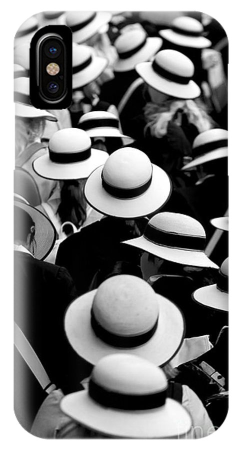Hats Schoolgirls IPhone X Case featuring the photograph Sea Of Hats by Sheila Smart Fine Art Photography