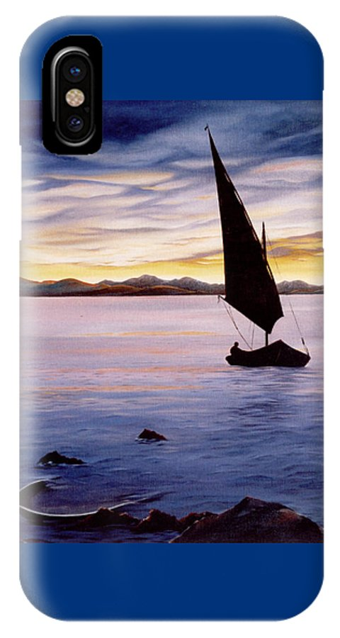 Seascape IPhone Case featuring the painting Sea Of Souls by Mark Cawood
