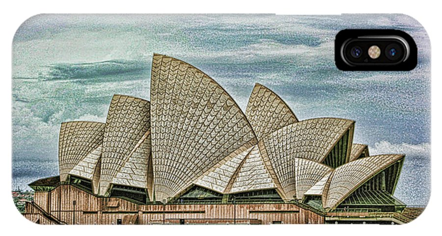 Sydney IPhone X Case featuring the photograph Sea Shell Opera by Douglas Barnard