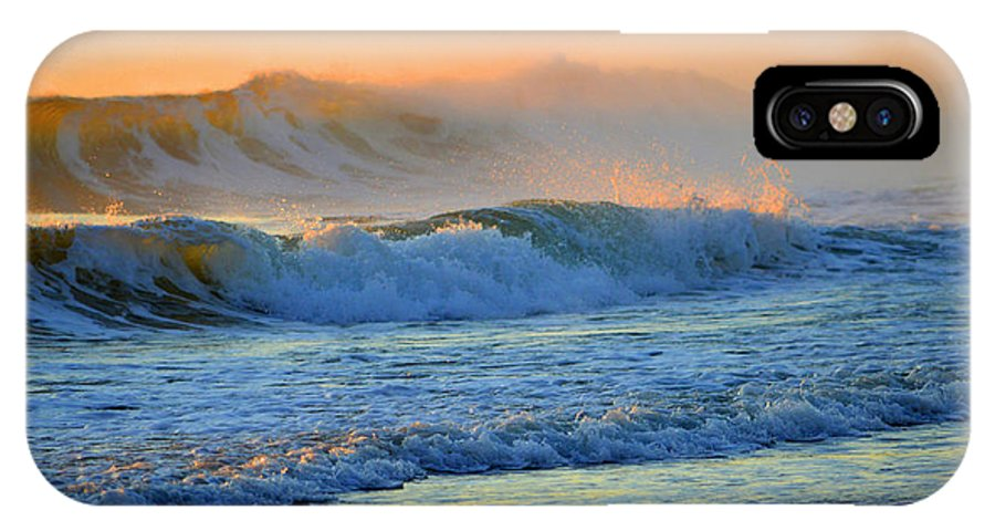 Ocean IPhone X Case featuring the photograph Sea Smoke Sunrise by Dianne Cowen