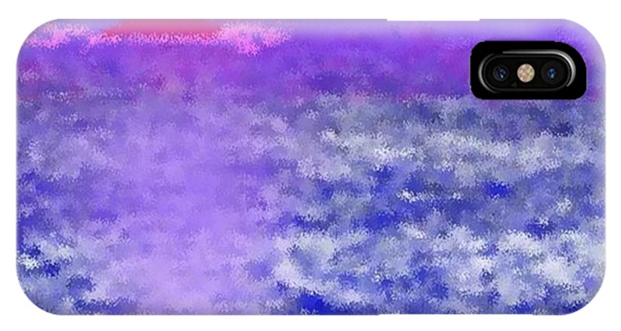 Landscape IPhone X Case featuring the digital art Sea Sunset by Dr Loifer Vladimir