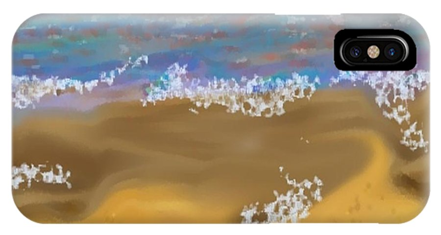 Landscape IPhone Case featuring the digital art Sea.breeze.wet Sand. by Dr Loifer Vladimir