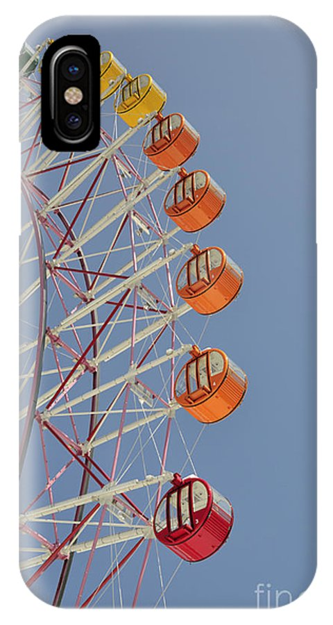Seacle Pleasure Town IPhone X Case featuring the photograph Seacle Ferris Wheel by Andy Smy