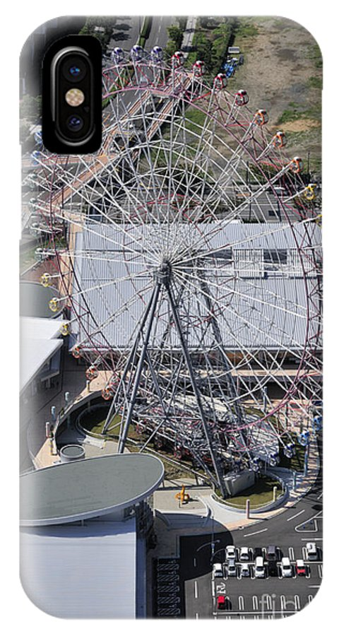 Ferris Wheel IPhone X / XS Case featuring the photograph Seacle Pleasure Town by Andy Smy