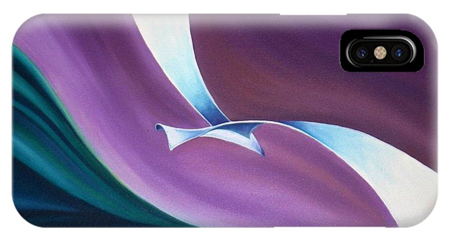 Seagull IPhone X Case featuring the painting Seagull by Ilaria Andreucci