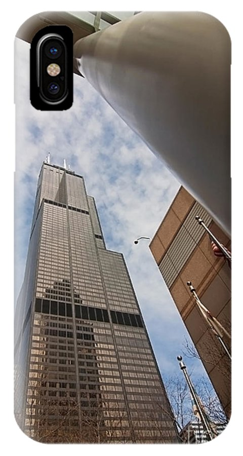 Sears Tower IPhone Case featuring the photograph Sears Tower From Across The Street by Sven Brogren