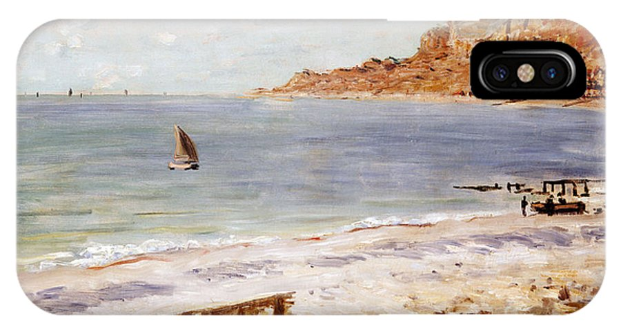 Seascape At Sainte-adresse (oil On Canvas) By Claude Monet (1840-1926) IPhone X Case featuring the painting Seascape At Sainte Adresse by Claude Monet