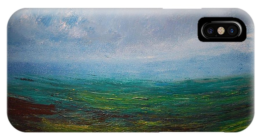 IPhone X Case featuring the painting Seascape by Mark Kazav