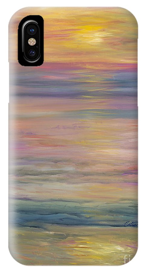 Sea IPhone X Case featuring the painting Seascape by Nadine Rippelmeyer
