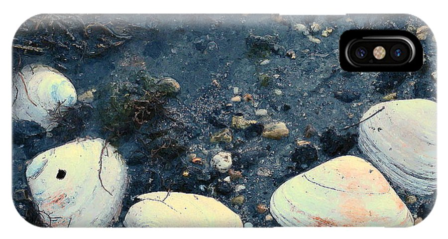 Seashells IPhone X Case featuring the photograph Seashells By The Water by Colleen Kammerer