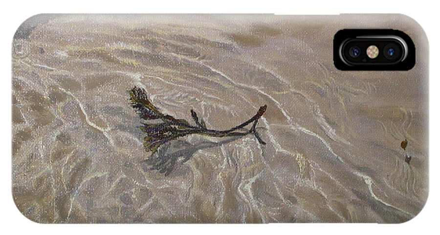 Seascape IPhone Case featuring the painting Seashore Reflections by Lea Novak
